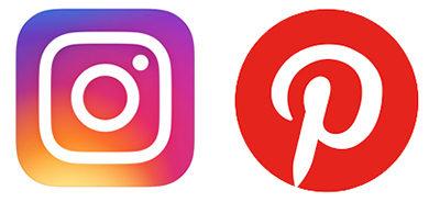 画像SNSのInstagram、Pinterestのアイコン